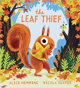 Speech and Language key teaching concepts for the ?-themed picture book The Leaf Thief in speech therapy.