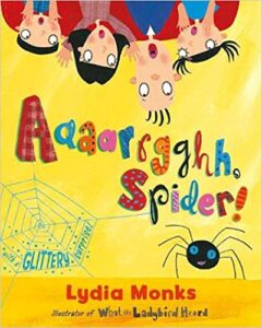 speech and language teaching concepts for Aaaarrgghh Spider in speech therapy